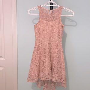 Pastourelle Girl's Lace High-Low Dress